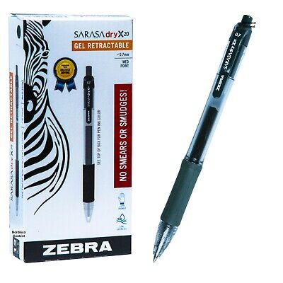Zebra Sarasa Dry X20 0.7mm Forest Green Gel Ink Rollerball Pen 46940 Box Of 12