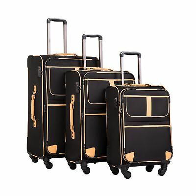 Coolife Luggage 3 Piece Set Suitcase Expandable TSA lock pin