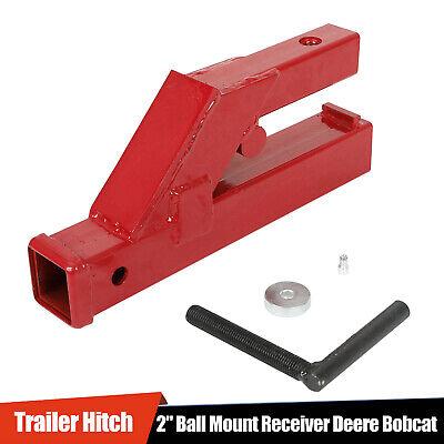 2 Clamp On Bucket Trailer Hitch Receiver Deere Bobcat Tractor Ball Mount Haul