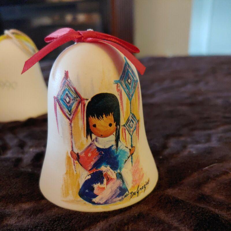 De Grazia 1994 Limited Edition Porcelain Hand Painted Bell Ornament