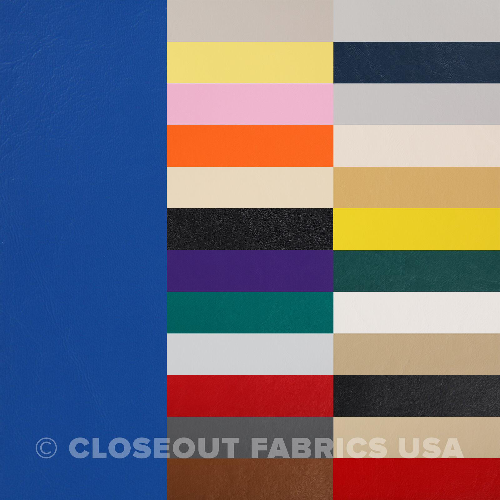 Marine Vinyl Fabric - Boat Auto Outdoor Upholstery - 33 Colo