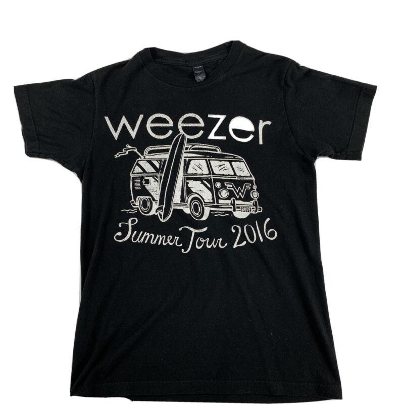 Weezer 2016 Tour Tultex Cotton Tee Shirt Black small