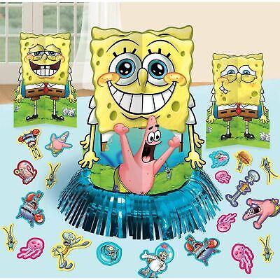 Spongebob Centerpieces (Sponge-bob Squarepants Table Decorating Kit Party Supplies Center Piece)