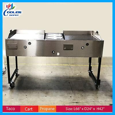 66 Taco Carts Hot Dog Burger Fries Comal Commercial Catering Cooler Depot