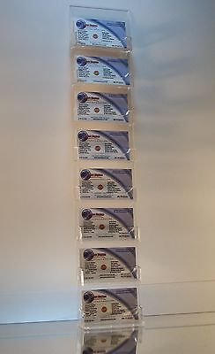 Clear Acrylic Vertical 8-pocket Wall-mount Business Card Display Holder