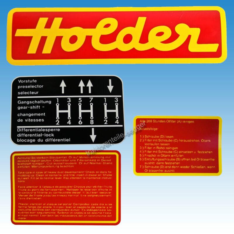Aufkleber - Satz Holder A 20 A21S 4-teilig Traktor Schlepper 01583 Foto 1