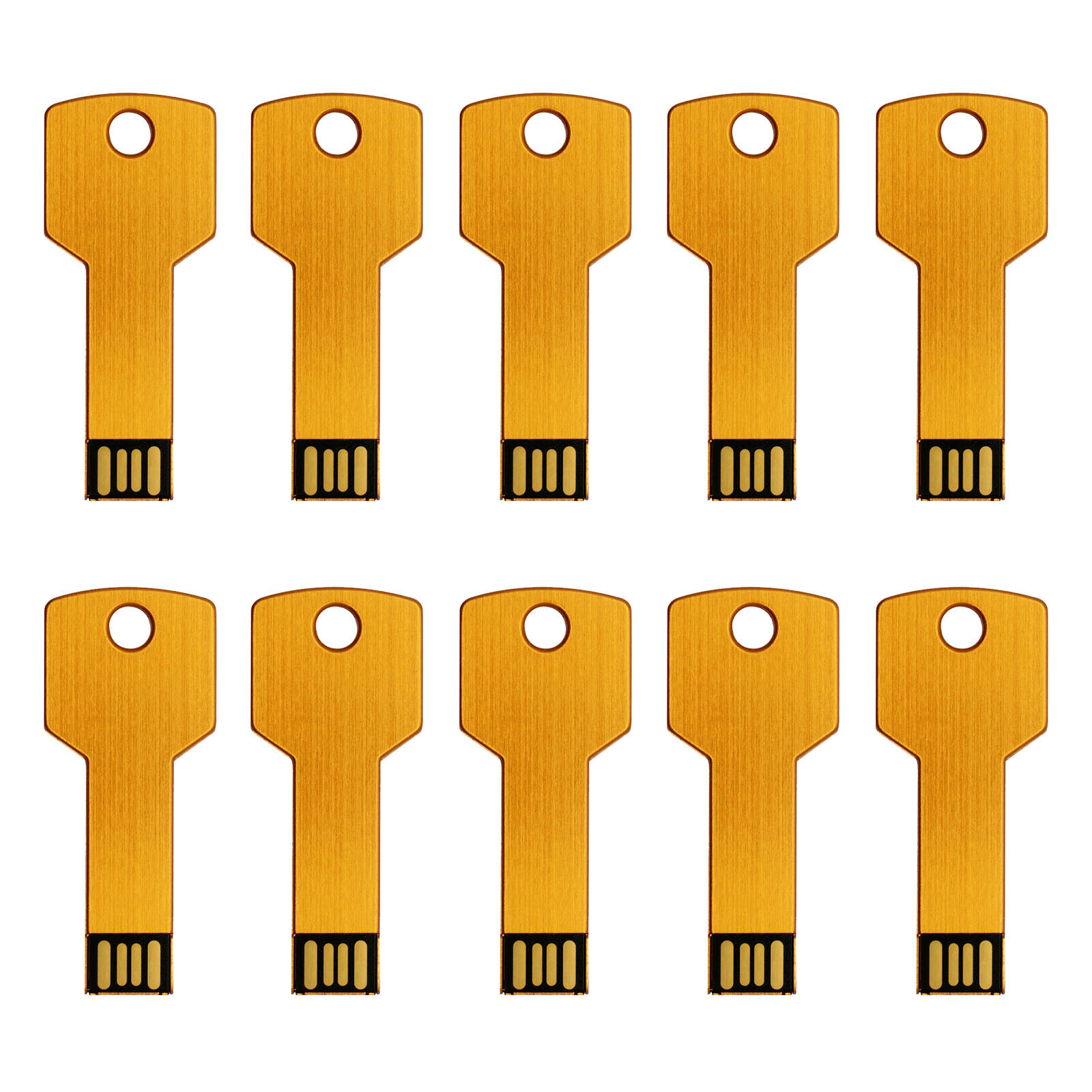 10PCS Metal Key Model 4GB USB 2.0 Flash Drive Memory Stick Thumb Pen U Disk Gold 122