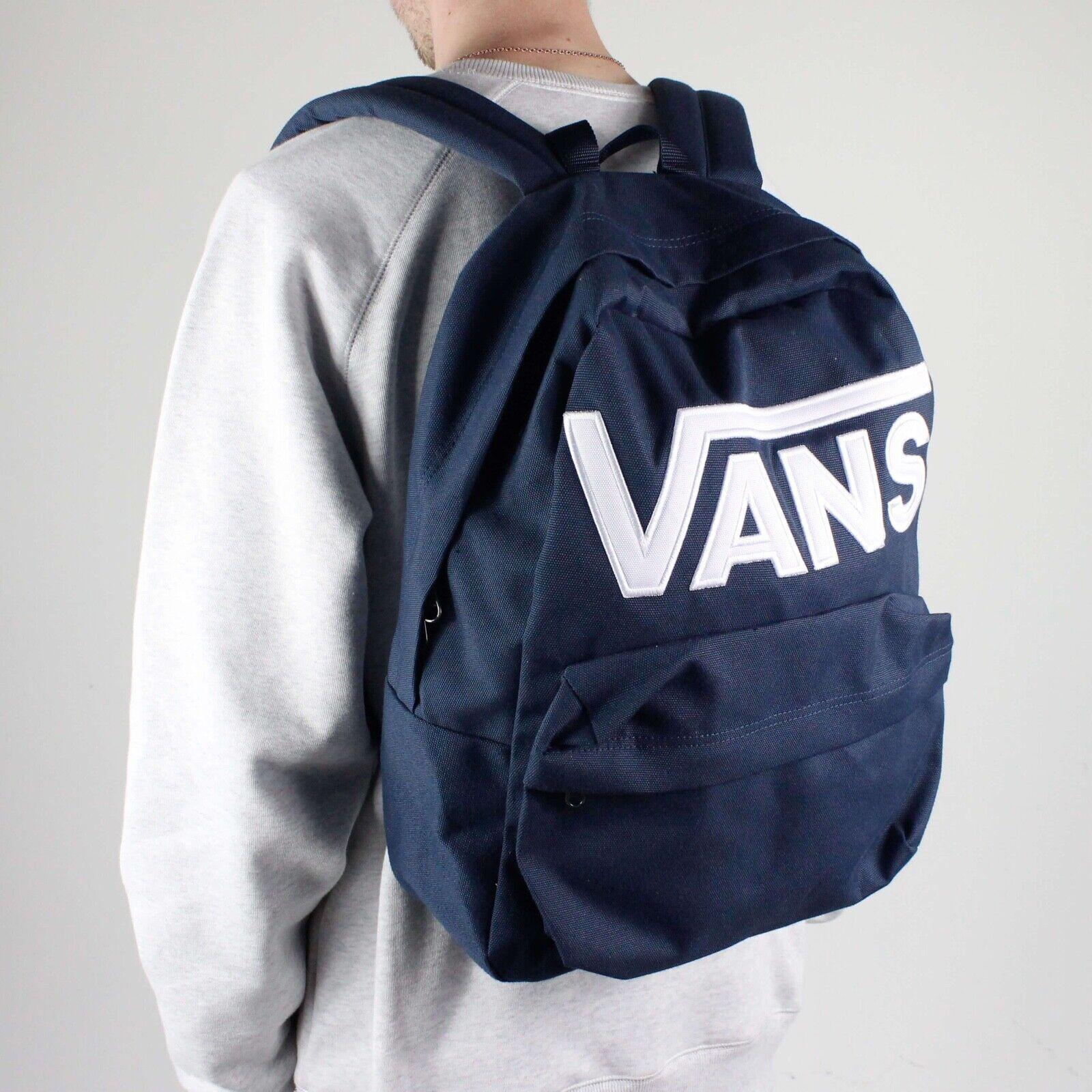 Details about Vans Classic Old Skool BackpackRucksack for SchoolWorkTravel – Navy Blue