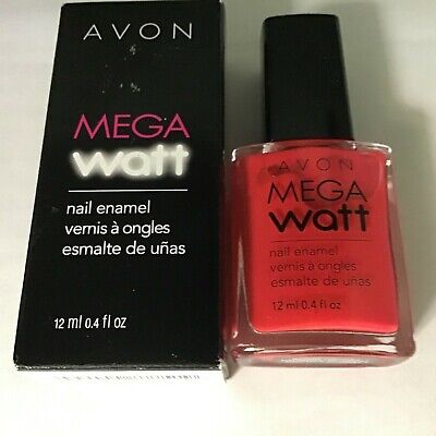 AVON MEGA WATT NAIL ENAMEL ~ HOT PANTS ~ DISCONTINUED