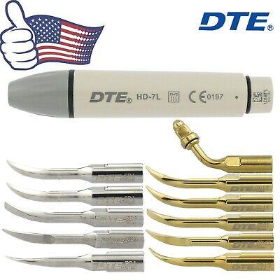 Us Woodpecker Dental Ultrasonic Scaler Handpiece Dte Hd-7l V2 V3 Led Tip Satelec