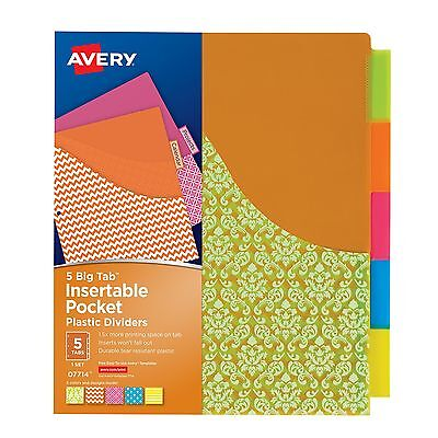 Avery Big Tab Pocket Divider (ave-07714) (ave07714)
