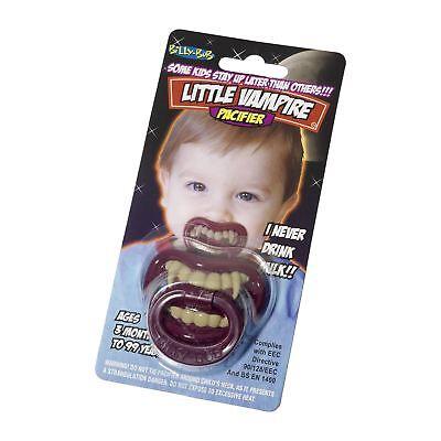 Kleiner Vampir Dummy Schnuller Zähne Kostüm Junge Mädchen Kleinkind Baby