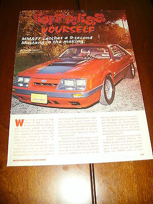 1985 MUSTANG GT 5.0  ***ORIGINAL 1995 ARTICLE***