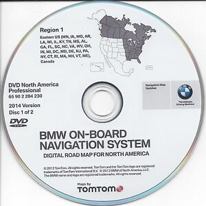 bmw on board road map update dvd north america. Black Bedroom Furniture Sets. Home Design Ideas