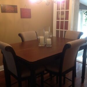 DINING/KITCHEN TABLE AND 8 CHAIRS