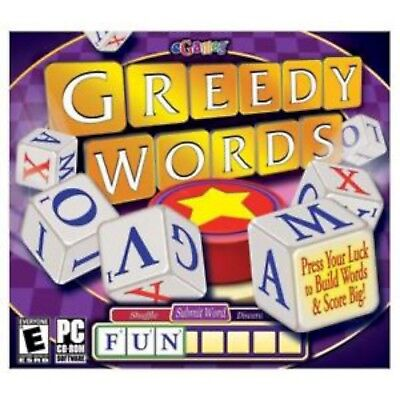NEW SEALED Greedy Words PC Video Game dice crossword multiple languages family ()