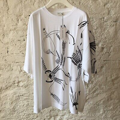 Dries Van Noten Floral Embroidered Oversized Cotton T-shirt