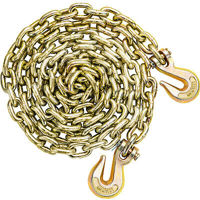 Tow Chain Tie Down Binder Flat With Grade 70 Hooks 38 10.5ft Truck Trailer