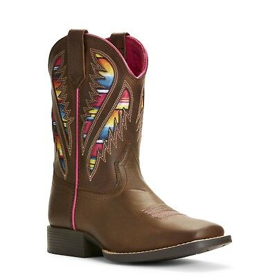 Ariat® Kid's Quickdraw VentTEK Brown Serape Cowgirl Boots - Childs Cowgirl Boots