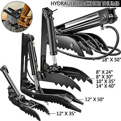 Vevor Hydraulic Backhoe Thumbs Large Capacity Heavy-duty Excavator Thumb Attach