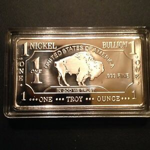 Nickel Bullion Bar Ebay
