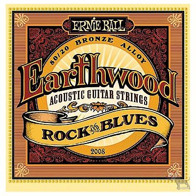 Ernie Ball 2008 Earthwood Bronze Rock and Blues Acoustic Guitar Strings 10-52