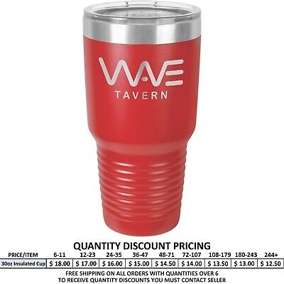 Personalized Red Vacuum Insulated Tumblers Custom Design Engraved Gifts Mug Cup (Personalized Insulated Cups)