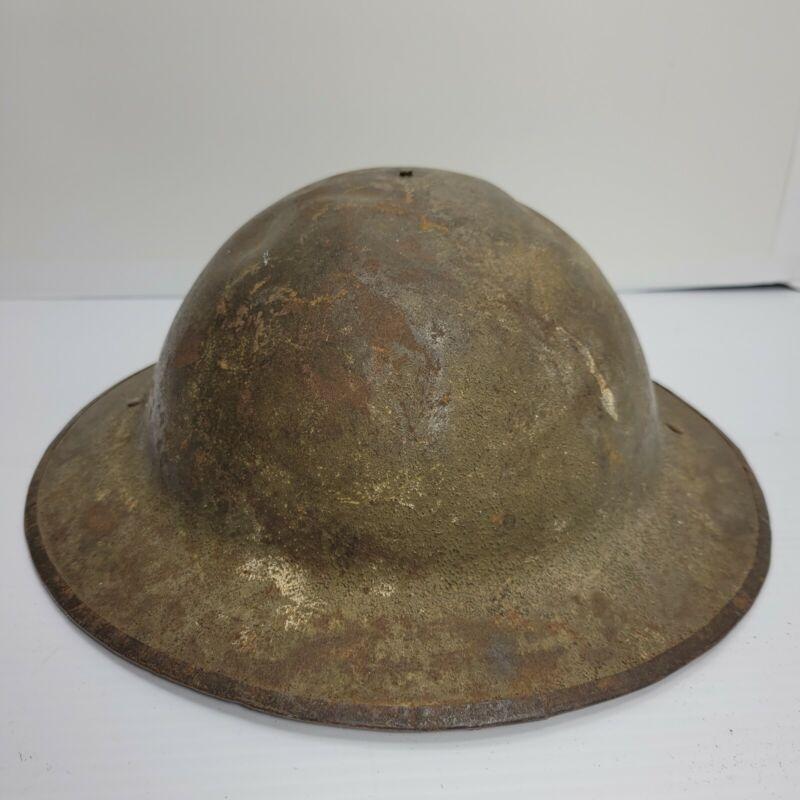 British WW1 Brodie Helmet with partial liner liner, bs14