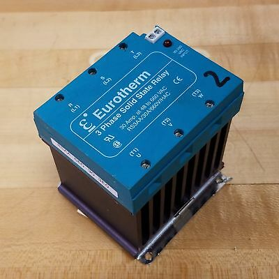 Eurotherm Rs3aa30a660vhac Solid State Relay 3 Phase 30 Amp 48 To 660 Vac