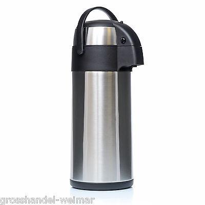 Airpot Pumpkanne Isolierkanne 5 Liter Thermoskanne Edelstahl Getränkespender XXL