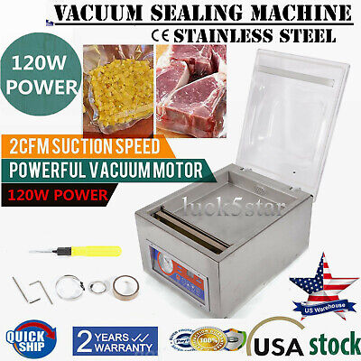 Commercial Vacuum Sealer Machine Sealing Packaging Packing Home Kitchen Food Usa