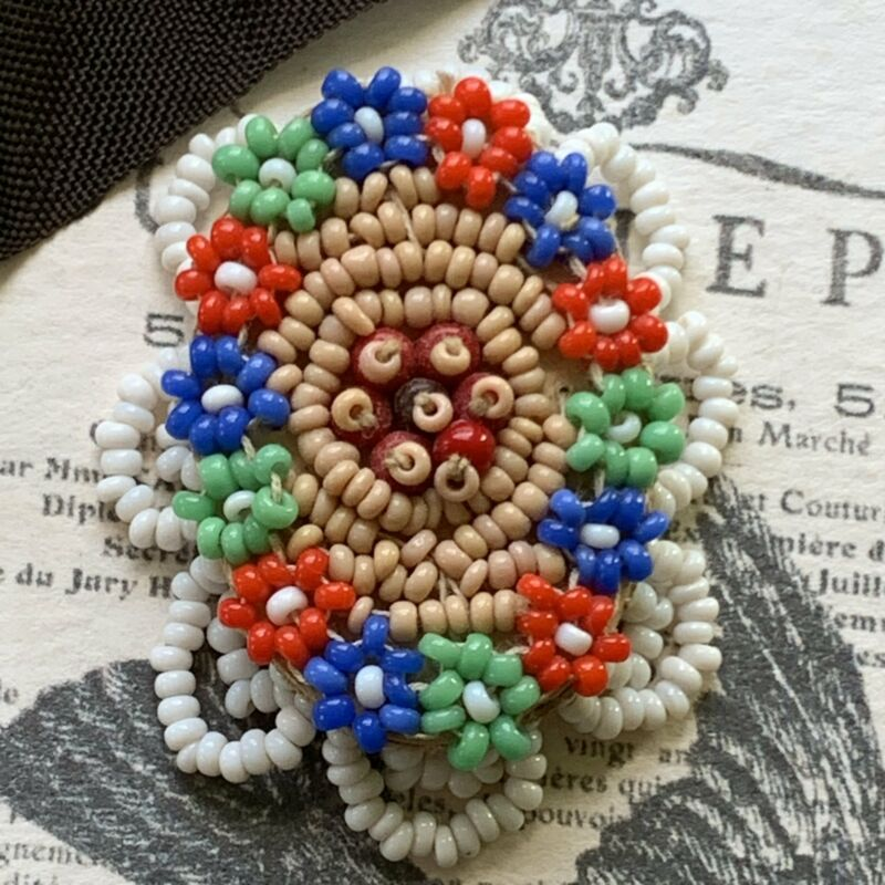 Vintage Hand Beaded Dress Clip