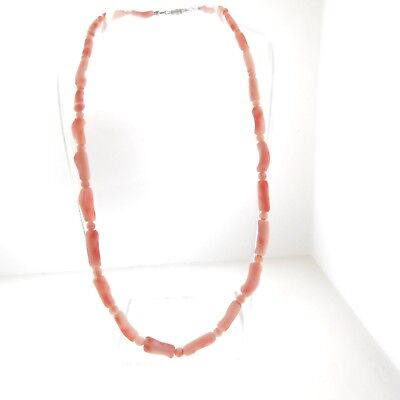 Vintage Pink Coral Necklace Strand Graduated Bead 4-8 mm (8mm Graduated Pink Pearl)