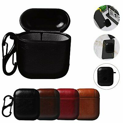 Leather Airpods Earphone Protective Cover Case For Apple AirPod iPhone U.S Stock Cases, Covers & Skins