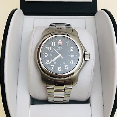 Victorinox Swiss Army Watch 24706 Stainless Steel Gray Dial Men's 42MM w BOX
