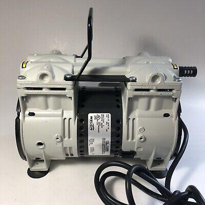 Welch 2561b-50 Dry Vacuum Pump 2-head Oil Freestandard Duty 115v 60hz 3.9a