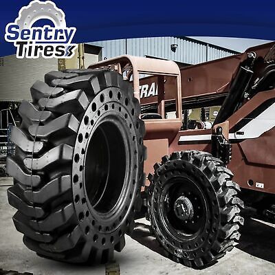 1400x24 Sentry Tire Telehandler 4 Solid Tires W Wheel 14.00x24 1400-24 For Genie