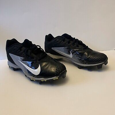 Nike Youth Vapor Baseball Cleats Size 6Y Black Gray Green- Used, Great Condition