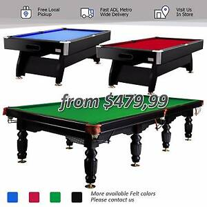 7、8、9、10、12FT MDF Slate Pool Billiard Table Free ADL Metro Post Edwardstown Marion Area Preview