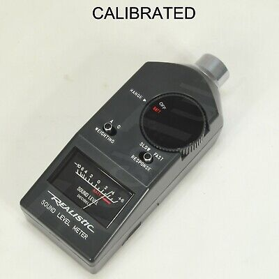 Realistic 42-3019 Sound Level Meter With Calibration Report