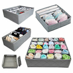 Underwear Sock Tie Storage Organizer Drawer Bra Pants Divider Tidy Wardrobe