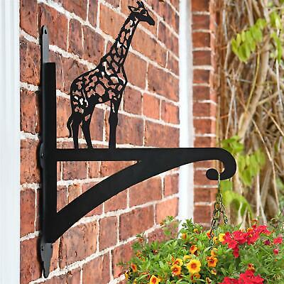 New Giraffe Iron Hanging Basket Bracket