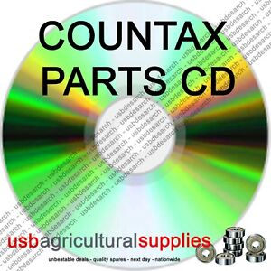 COUNTAX K-SERIES TRACTOR MOWER PARTS LISTS CD ALL DIAGRAMS, OPERATORS GUIDES ETC