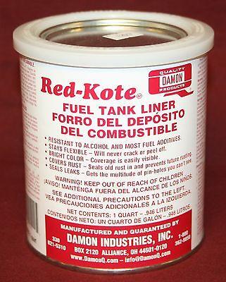 Red Kote Quart  Coat Gas Oil Diesel Fuel Tank Sealer Liner Patch Hit Miss Engine