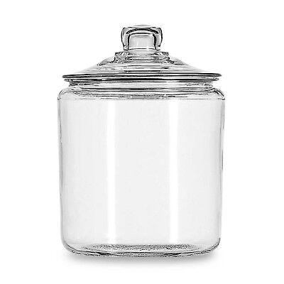 Anchor Hocking Heritage Hill 1-Gallon Storage Jar - Glass, Lid - NEW FreeShip