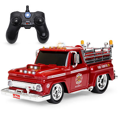 BCP 2.4GHz Kids Remote Control Emergency Fire Truck Car Toy w/ Lights, Sounds ()