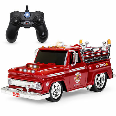 BCP 2.4GHz Kids Remote Control Emergency Fire Truck Car Toy