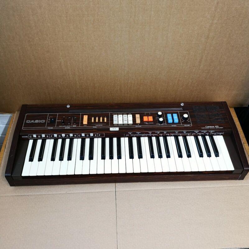 Casio Casiotone 403 Analogue Synthesiser Drum Machine Keyboard retro vintage