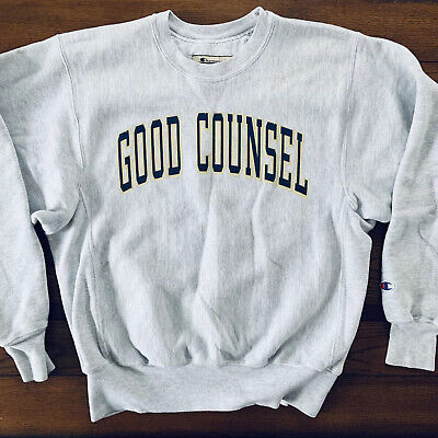 90s Champion Reverse Weave Our Lady of Good Counsel Sweatshirt Small S