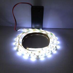 display cool white led light strip 9v battery operated 2000mm waterproof strip ebay. Black Bedroom Furniture Sets. Home Design Ideas